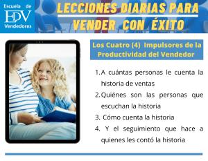 Los cuatro (4) Impulsores de la Productividad del Vendedor