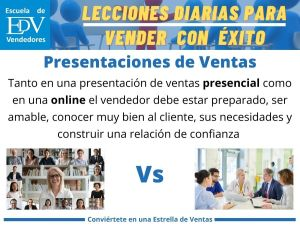 ¿Cuáles son las diferencias entre una presentación de ventas online y una presencial?
