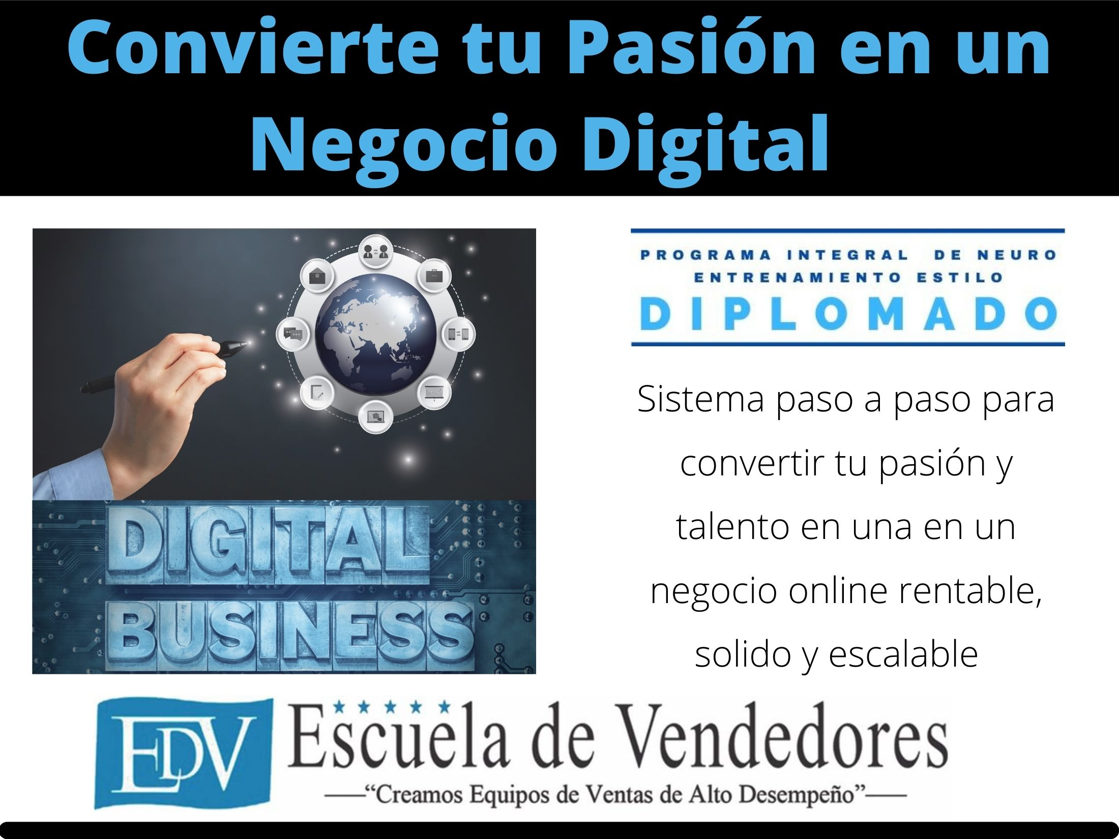 Convierte tu pasión en un negocio digital