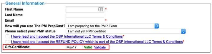 PM PrepCast discount coupon code applied