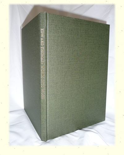Words into Wood Hardback Standing Book