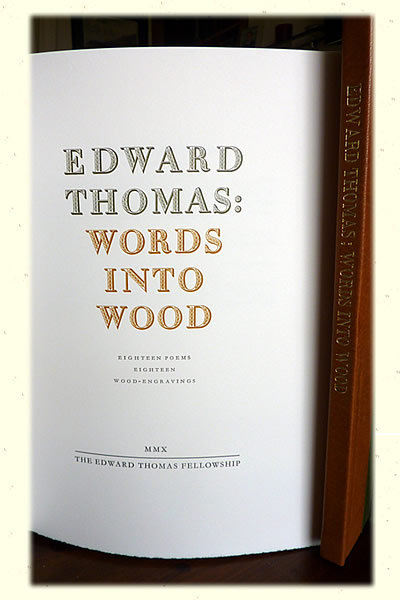 Words into Wood Book Opening Page