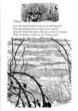 Thaw by Edward Thomas with original wood engraving by Yvonne Skargon