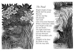 The Pond Poem by Edward Thomas with wood engraving by Yvonne Skargon