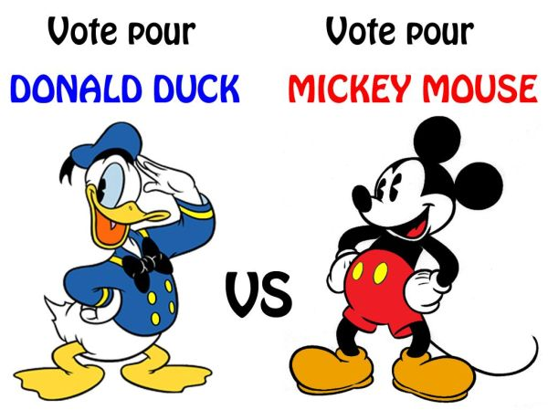DONALD DUCK VS MICKEY MOUSE - Centerblog