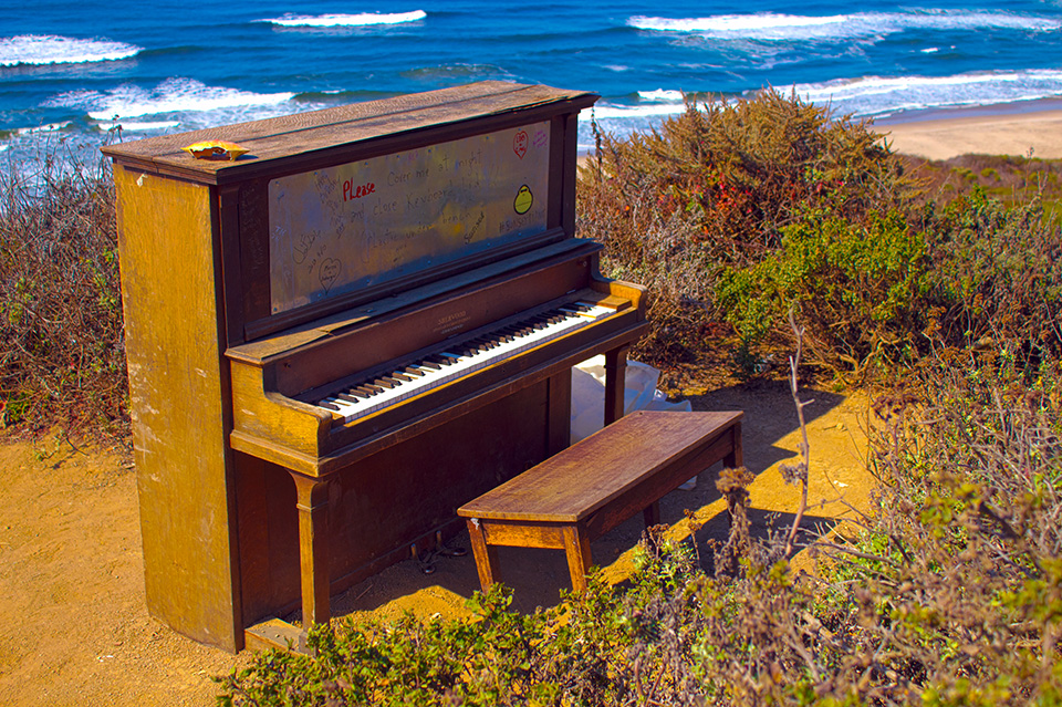 Piano on the beach
