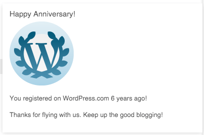 WordPress 6th Anniversary