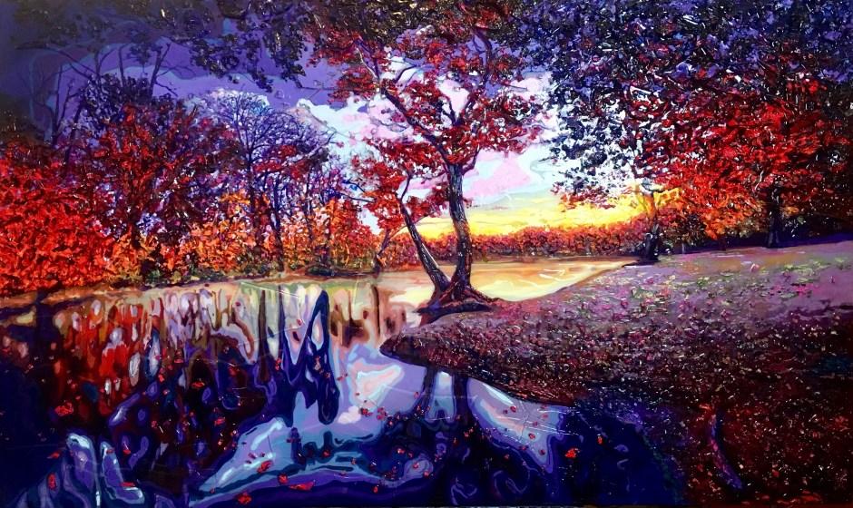 """Autumn Tango 36"""" x 60"""""""