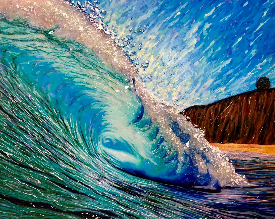 "Mavericks-Half Moon Bay 48"" x 60"""