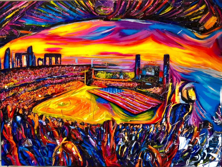 "In Fauv by the Bay-SF Giants 36"" x 48"""