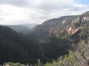 Approaching Sedona through Oak Creek Canyon