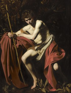 Sain John the Baptist in the Wilderness, Caravaggio, Nelson-Atkins Museum, Kansas City
