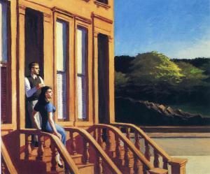Sunlight on Brownstones Edward Hopper Wichita Art Museum