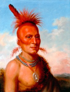 'Sharitarish (Wicked Chief) Pawnee' Charles Bird King (1822)