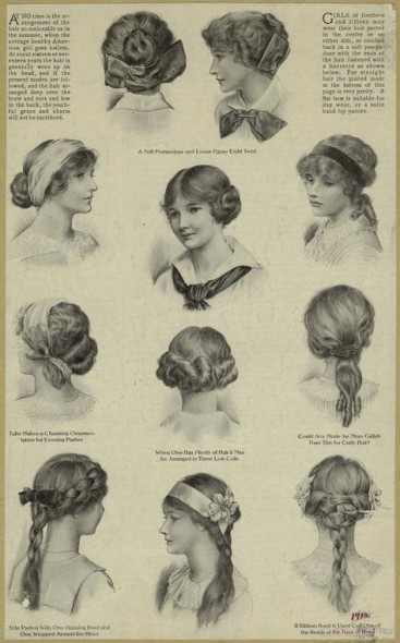 edwardian girls hairstyles