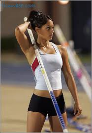 University of California Pole Vaulter Allison Stokke trains heavy