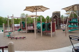 Ground view of the tunnels of the boundless playground.