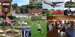 A collage of various images at Edwardsville Township Park