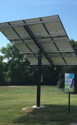 Photo of the Solar Array at Edwardsville Township Community Park
