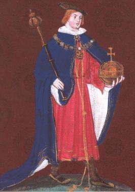 Edward in his Garter regalia