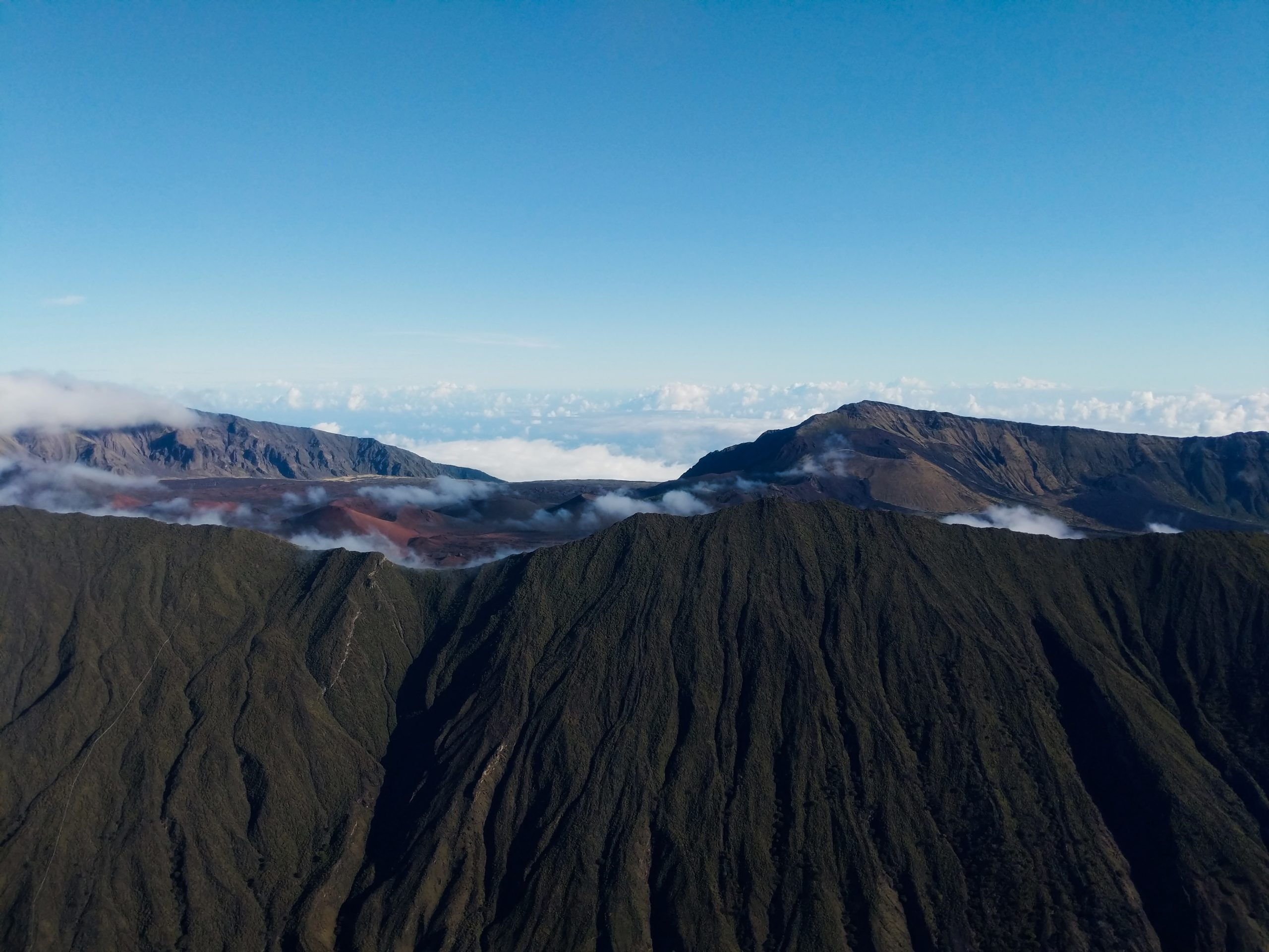 Haleakala Crater Aerial View
