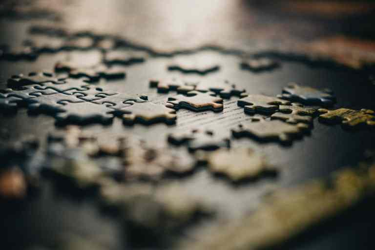 puzzel van het leven