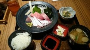 お得すぎる!!DINING STAGE 佐海屋旭のお造り2種盛り定食