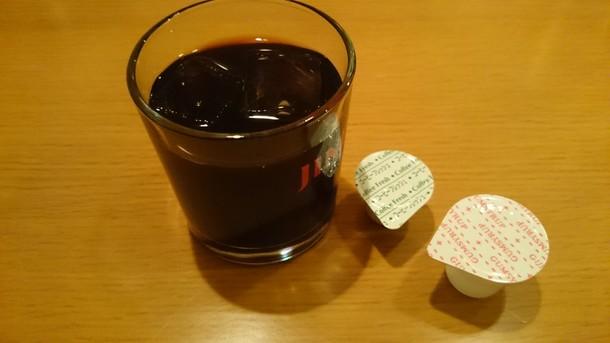 大連飯店サービスのアイスコーヒー