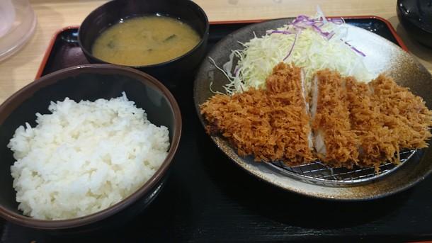 難波 松乃屋 ロースカツ定食