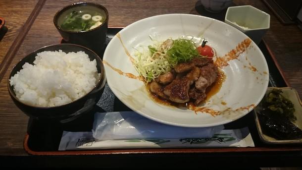 海空豚生姜焼き定食