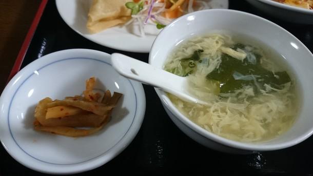 スープとザーサイ