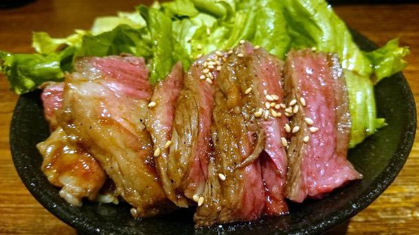 難波ウォークのステーキ丼