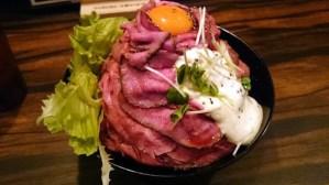 レッドロックのローストビーフ丼!大阪のアメ村の絶品グルメ!