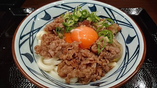 「丸亀製麺 すき焼き釜玉うどん」の画像検索結果
