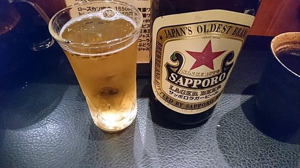 ビールはサッポロラガー