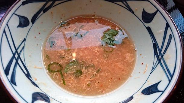 かに玉あんかけうどんスープ