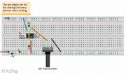 Non-Offset Circuit Fritzing