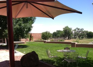 Patio at ABQ Open Space Visitor Center