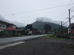 Arenal hiding in the clouds