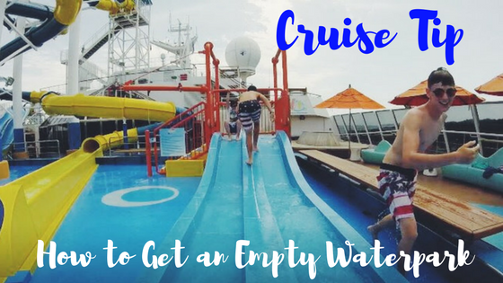 cruise tip how to enjoy an empty carnival waterworks eecc travels