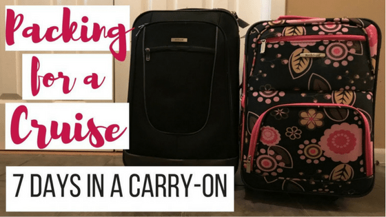 Packing For A Cruise 7 Days In A Carry On Bag Eecc Travels
