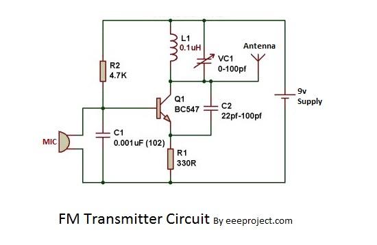 how to make fm transmitter circuit with 3 km range rh eeeproject com radio transmitter circuit diagram pdf radio transmitter circuit diagram pdf