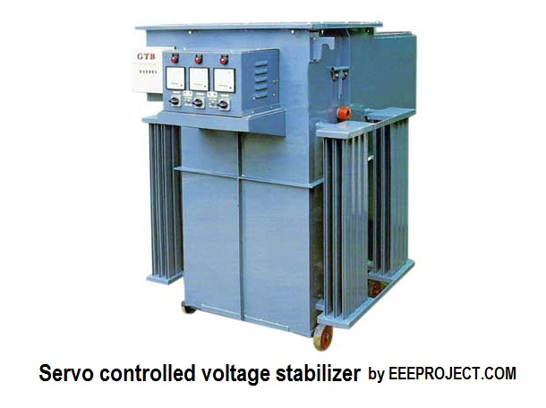 Servo controlled voltage stabilizer GTB