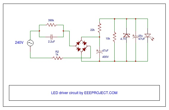 led driver circuit working and applications AC DC Power Supply Circuit Diagram Electronics