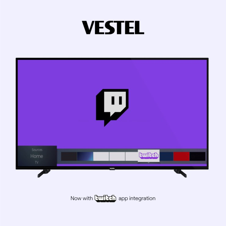 Multi-brand TV Manufacturer Vestel Brings Twitch to Smart TVs across Europe