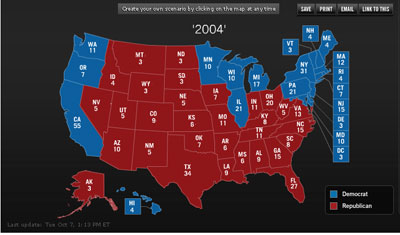 Painting the Electoral College map blue    eehard s Weblog One