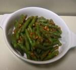 Gekruide groene boontjes