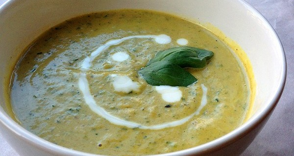 Courgettesoep uit Thermomix