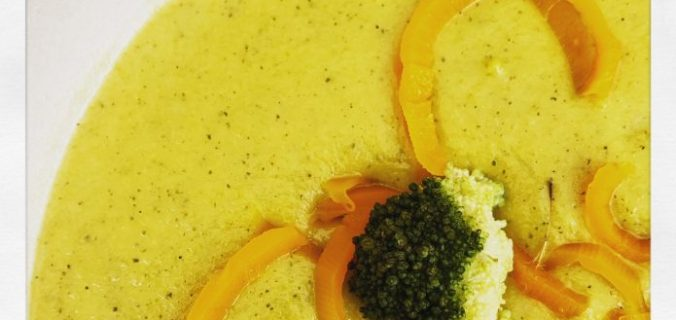 Aardappelbroccoli-soep met wortelen uit Thermomix