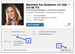 Linkedin-contactinformatie-toevoegen